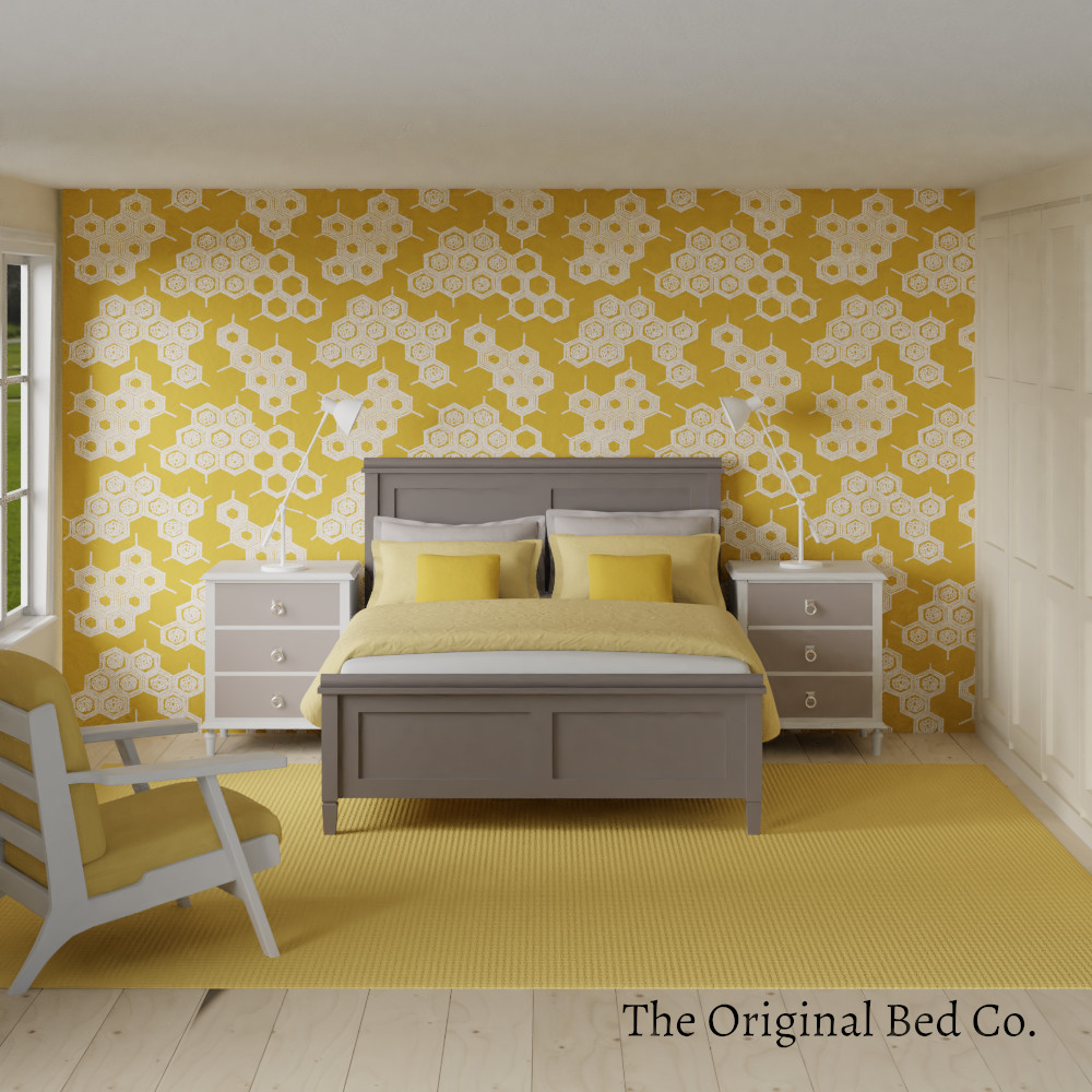 Rendered bedroom image with Pantone colour of the year 2009