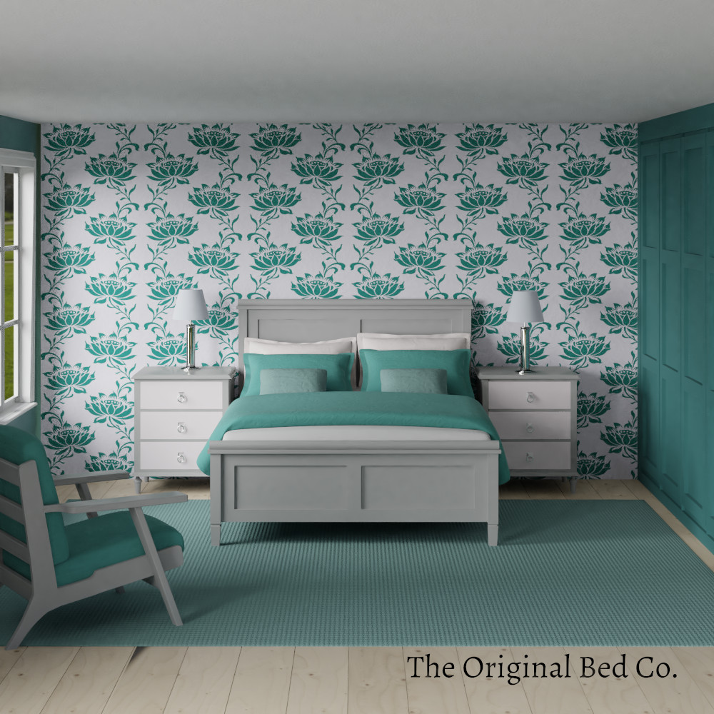 Rendered bedroom image with Pantone colour of the year 2010