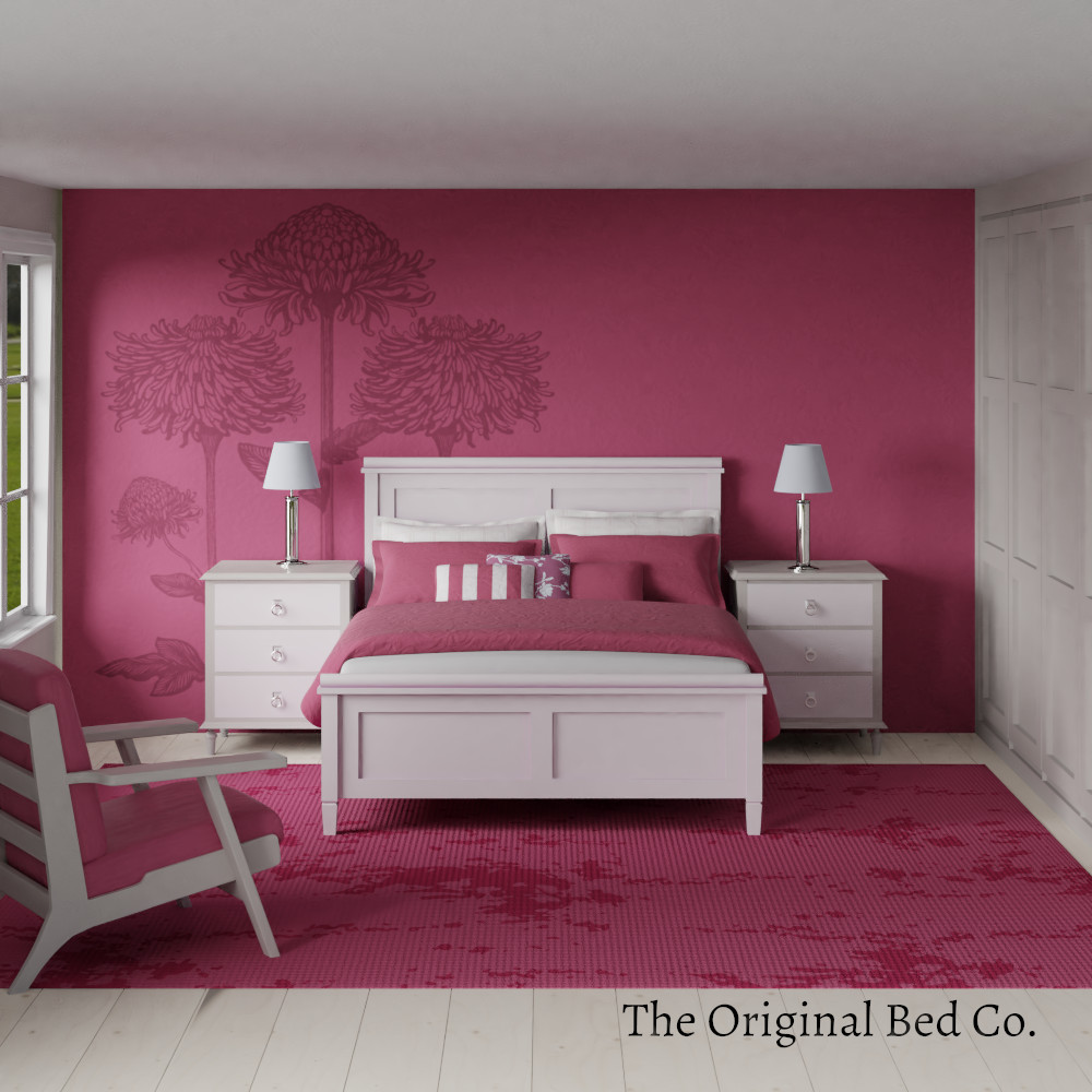 Rendered bedroom image with Pantone colour of the year 2011