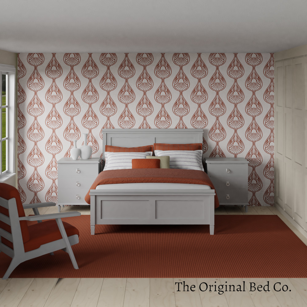 Rendered bedroom image with Pantone colour of the year 2012