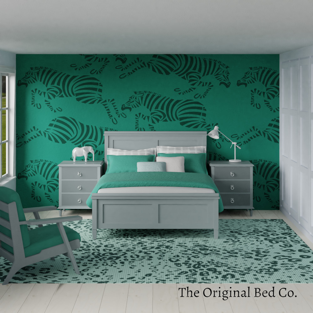 Rendered bedroom image with Pantone colour of the year 2013