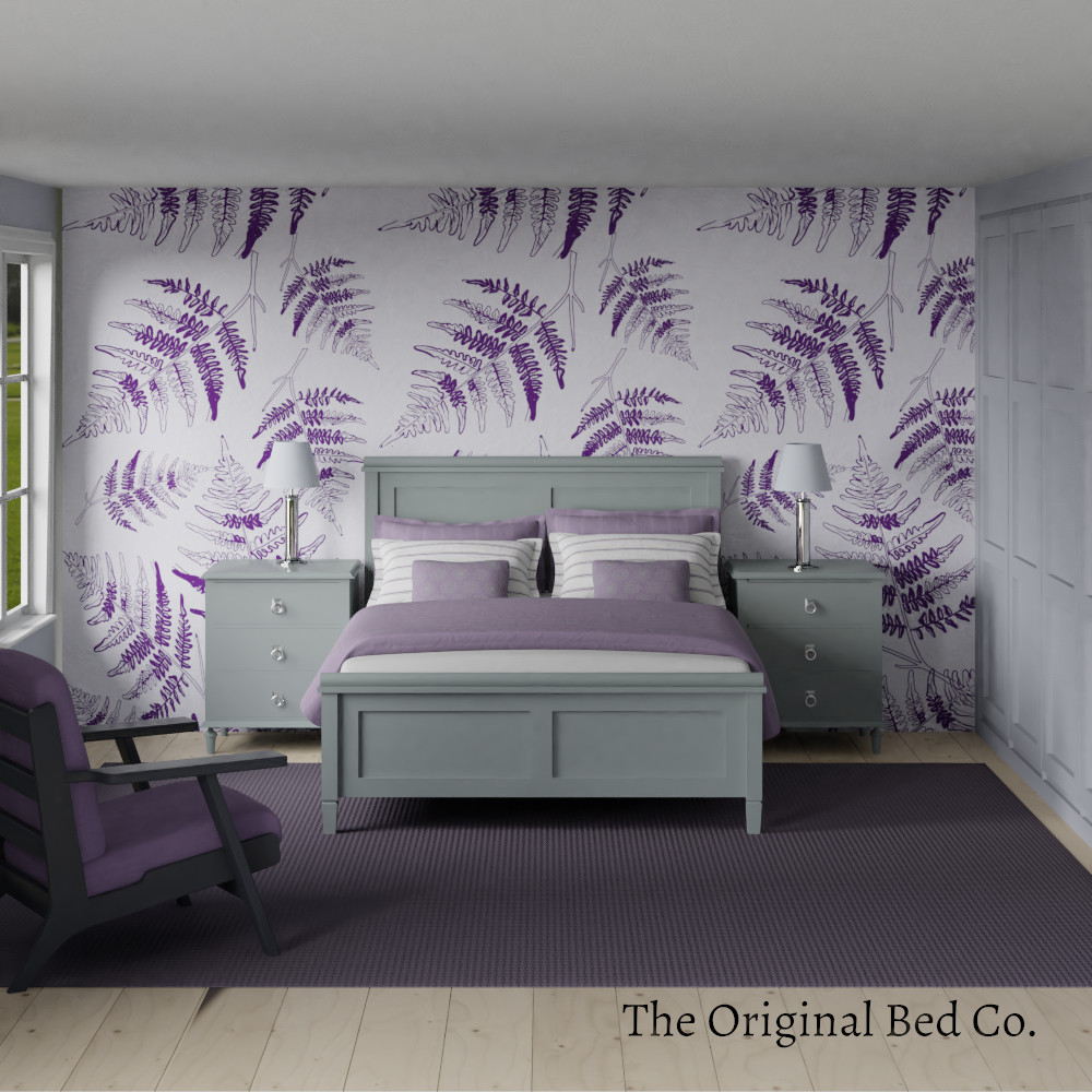 Rendered bedroom image with Pantone colour of the year 2014