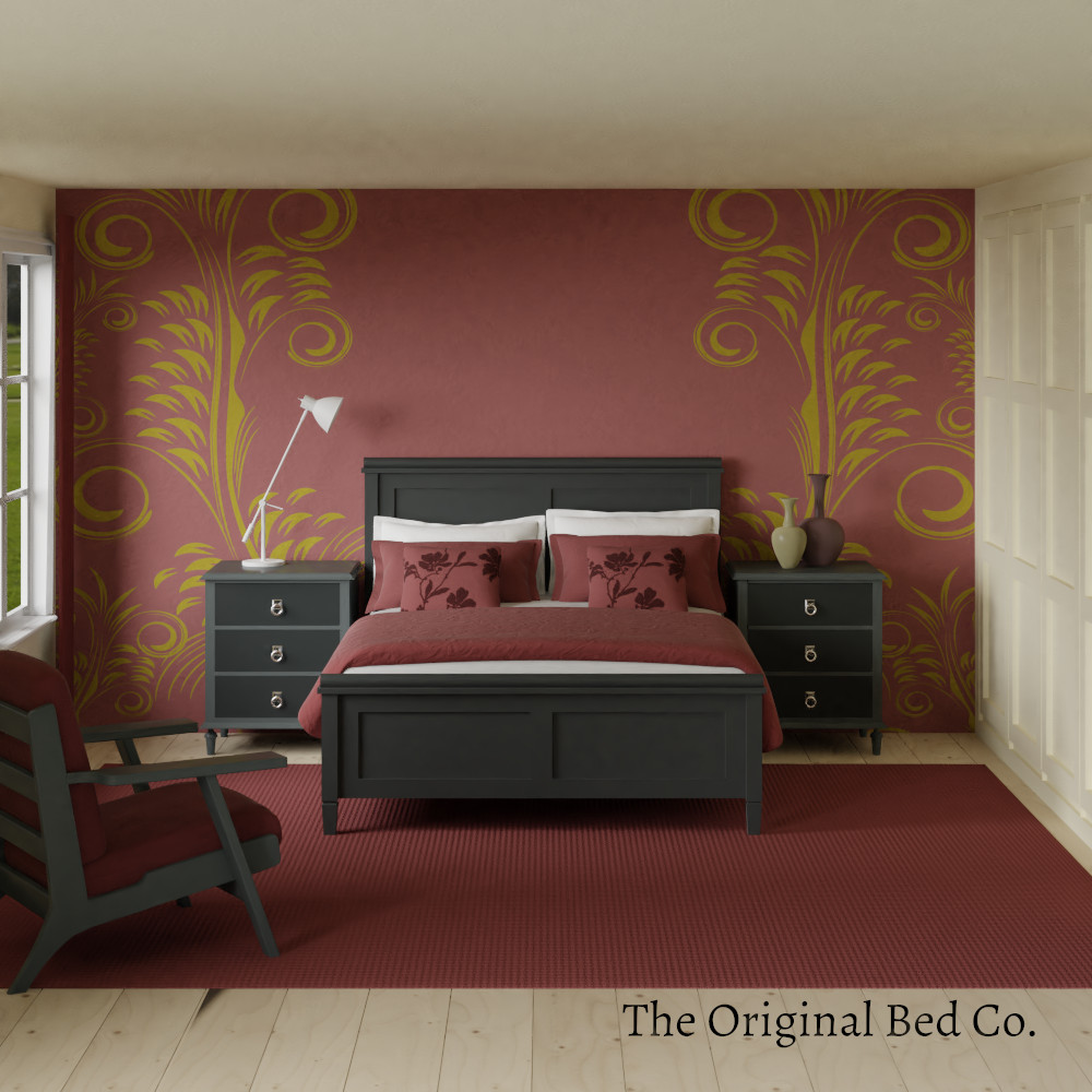 Rendered bedroom image with Pantone colour of the year 2015