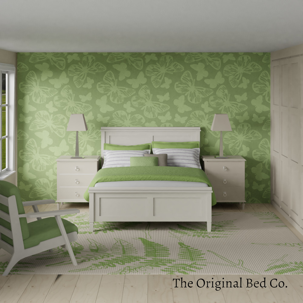 Rendered bedroom image with Pantone colour of the year 2017