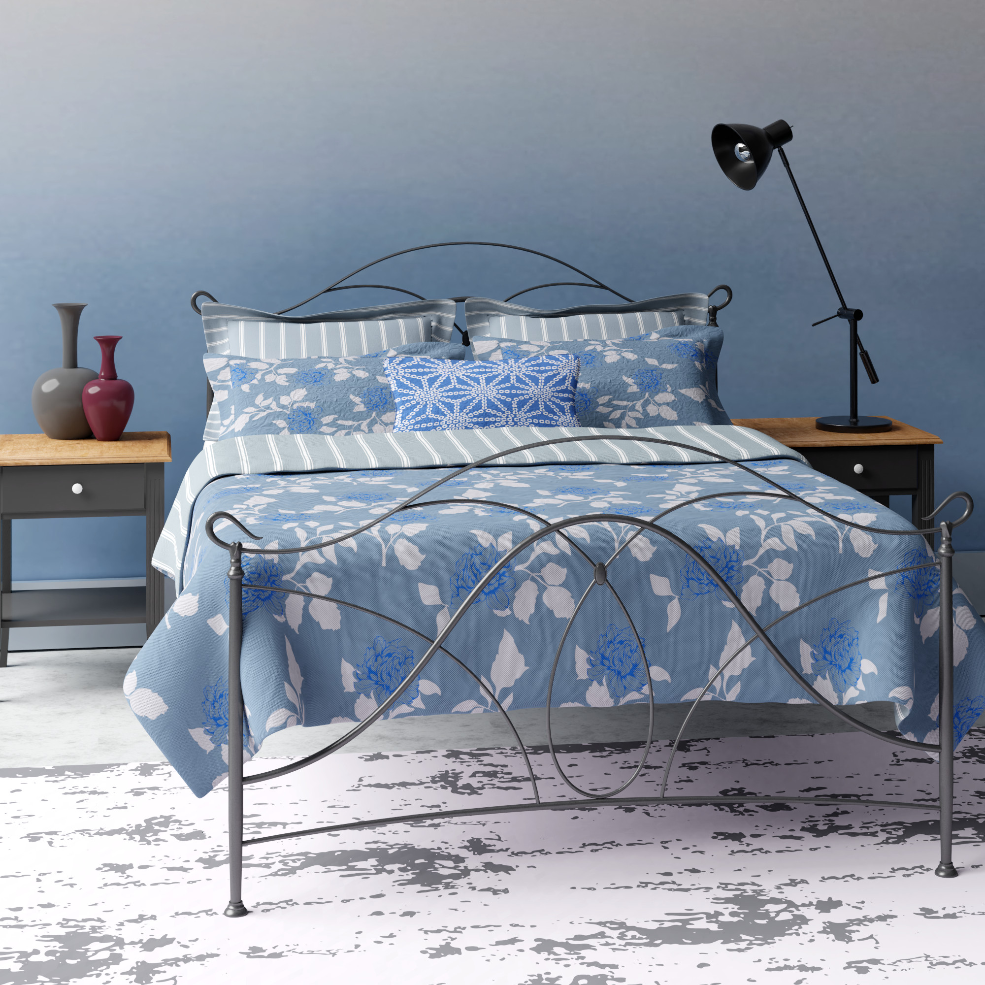 Ardo metal bed in grey