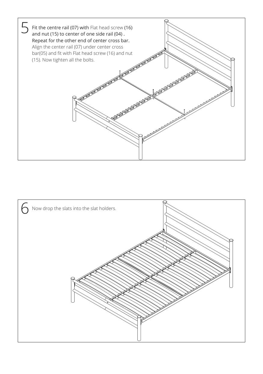 Iron bed assembly instructions step 5 and 6