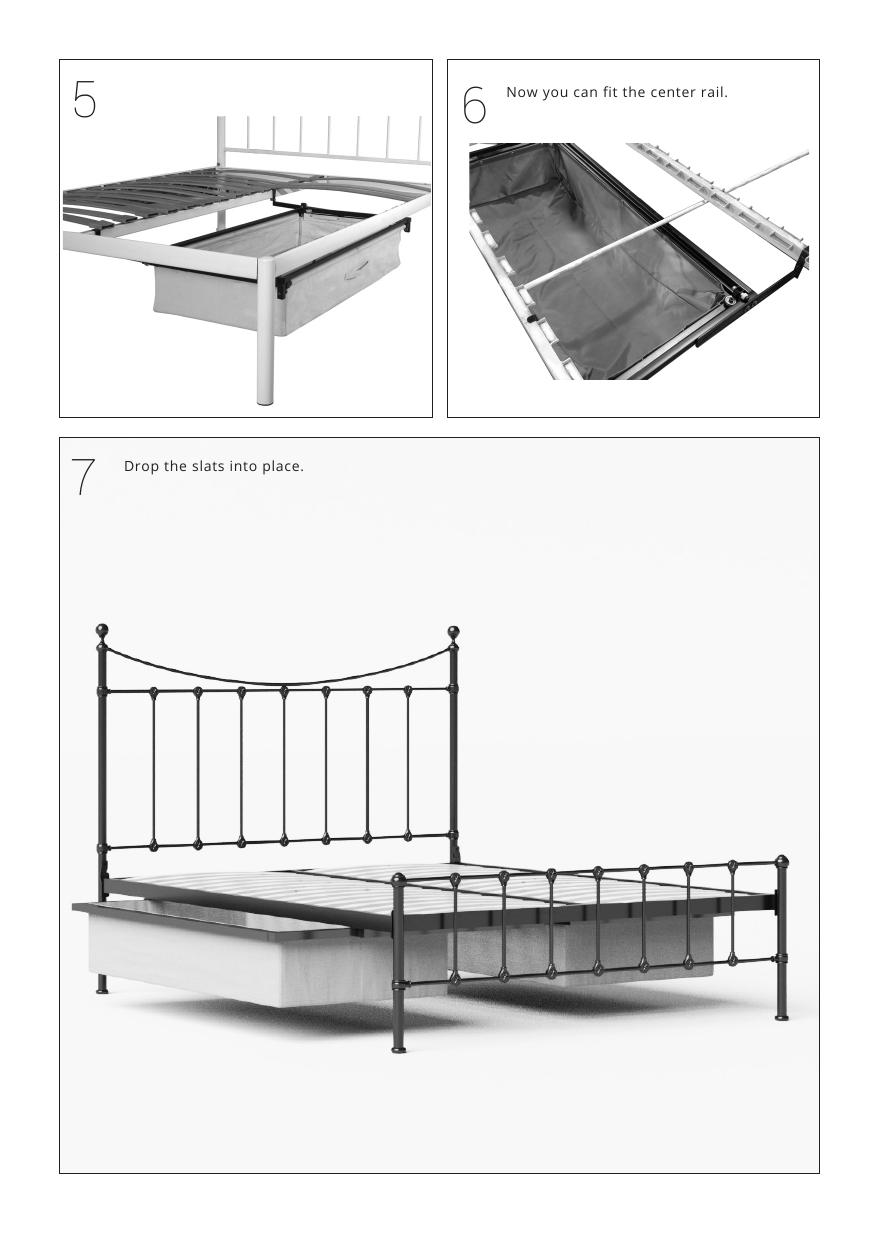 Iron bed assembly instructions underbed drawers 2