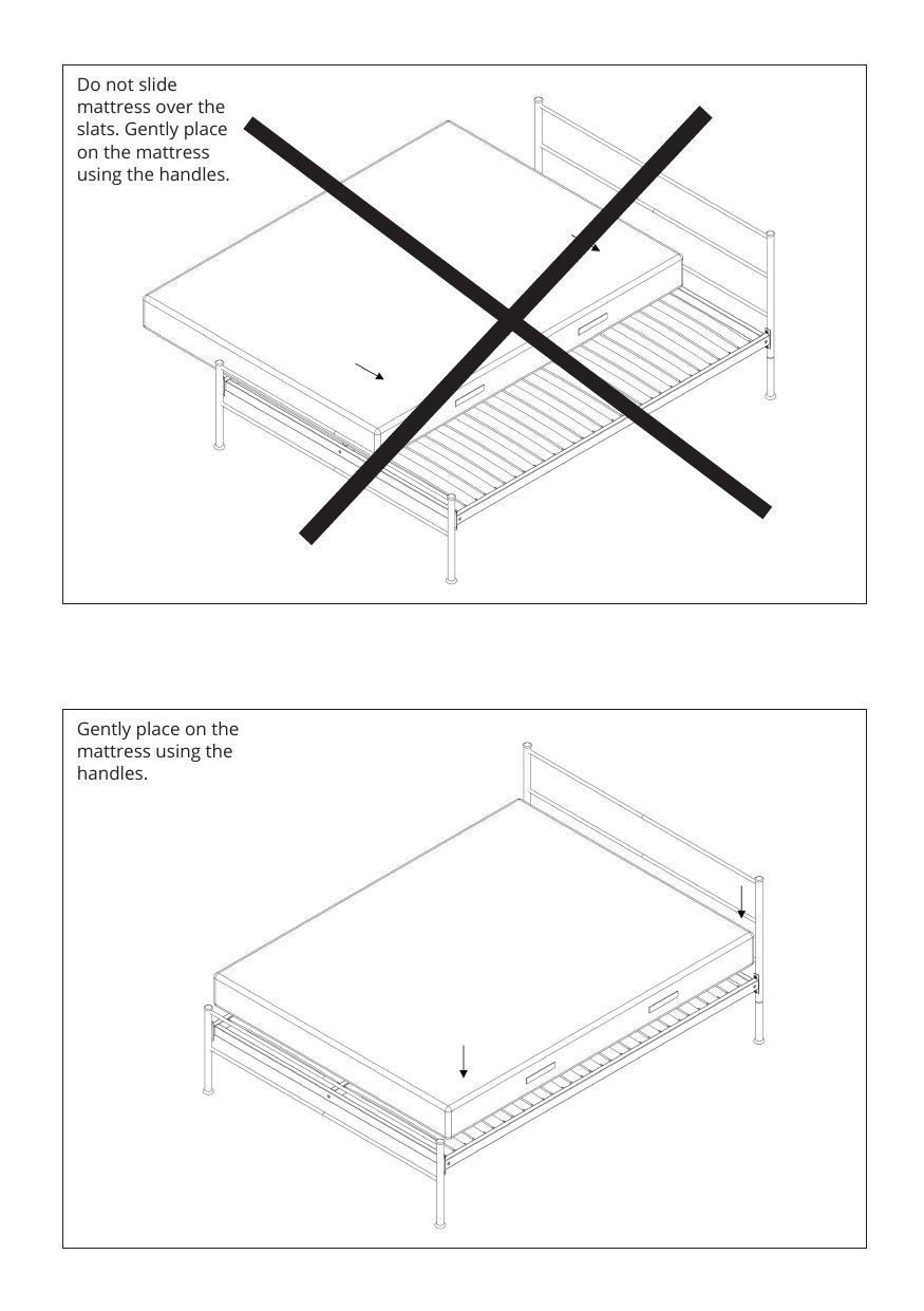 Iron bed assembly instructions step 7