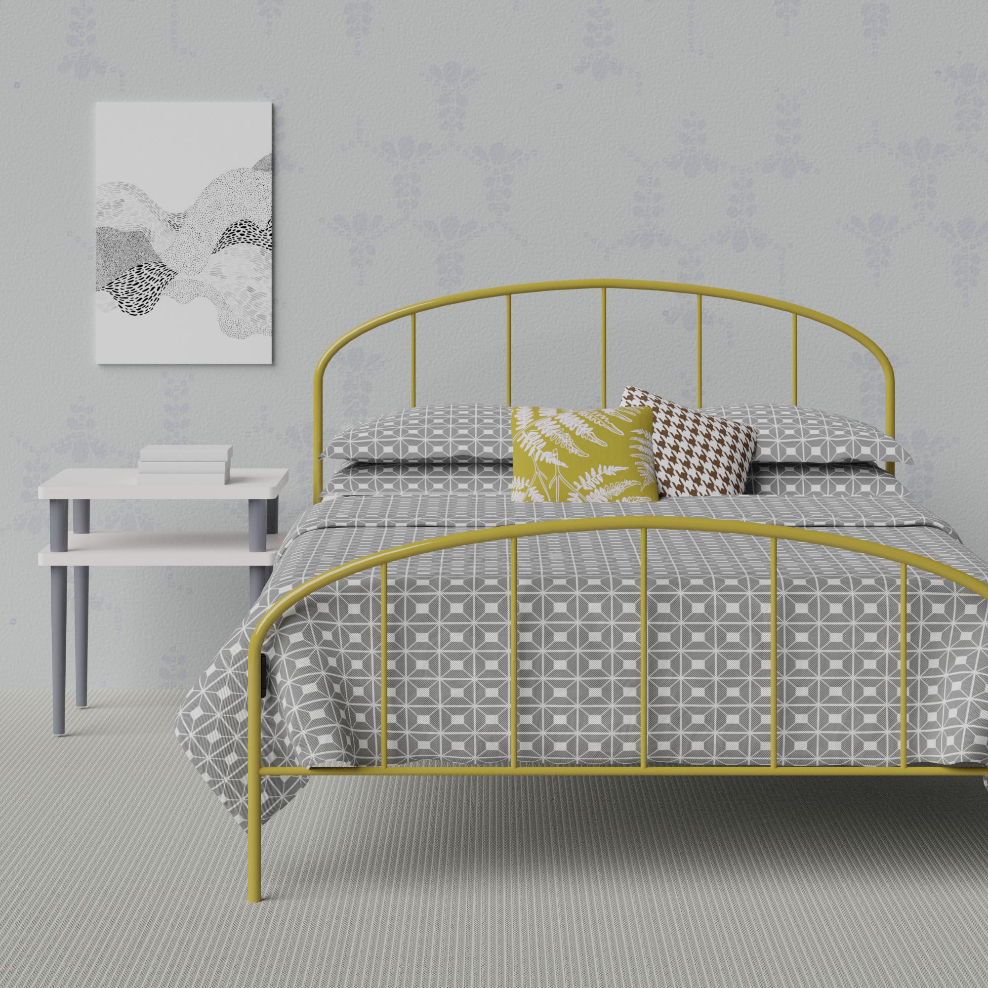 Waldo iron bed in a scandi room