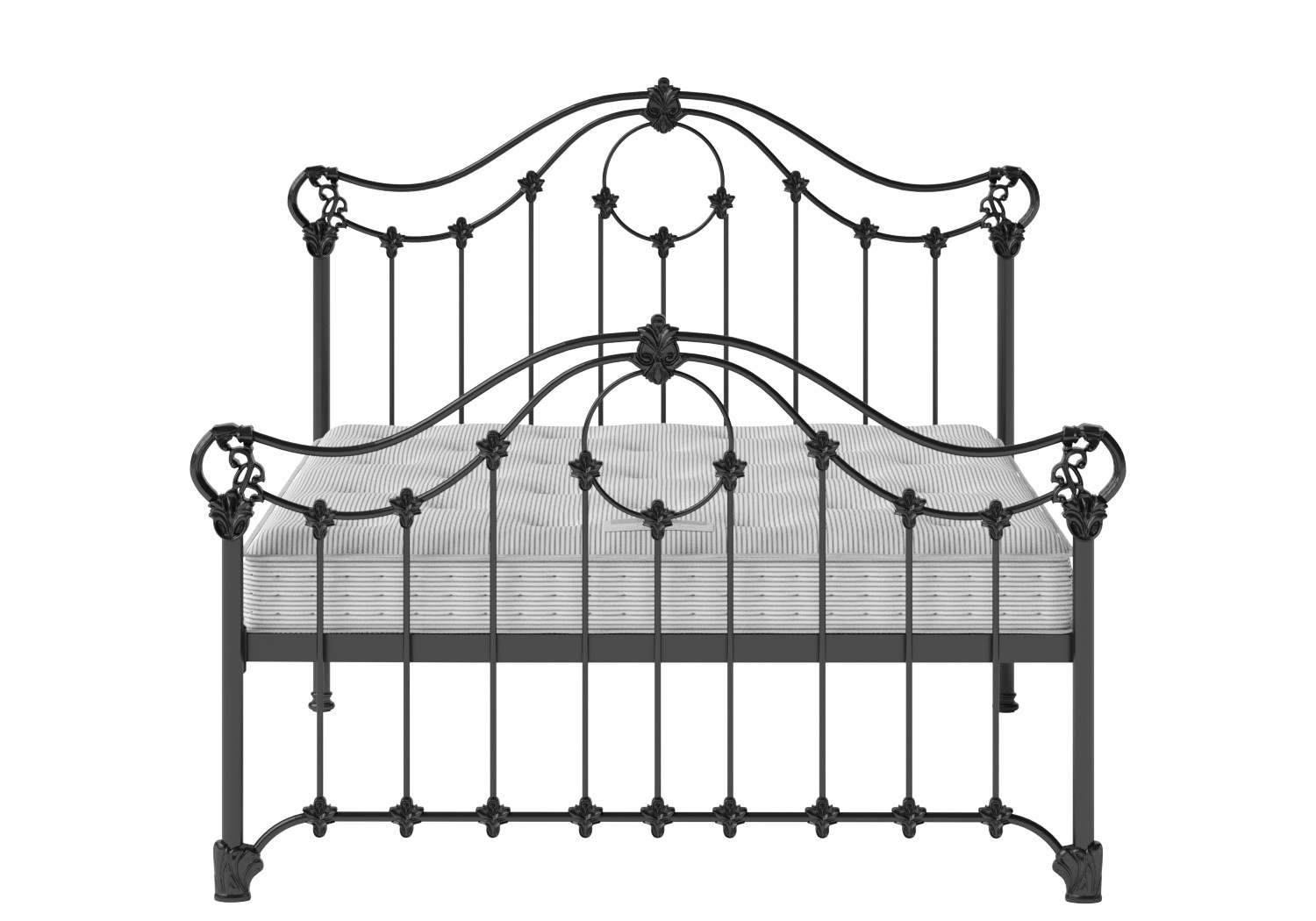 Alva Iron/Metal Bed in Satin Black