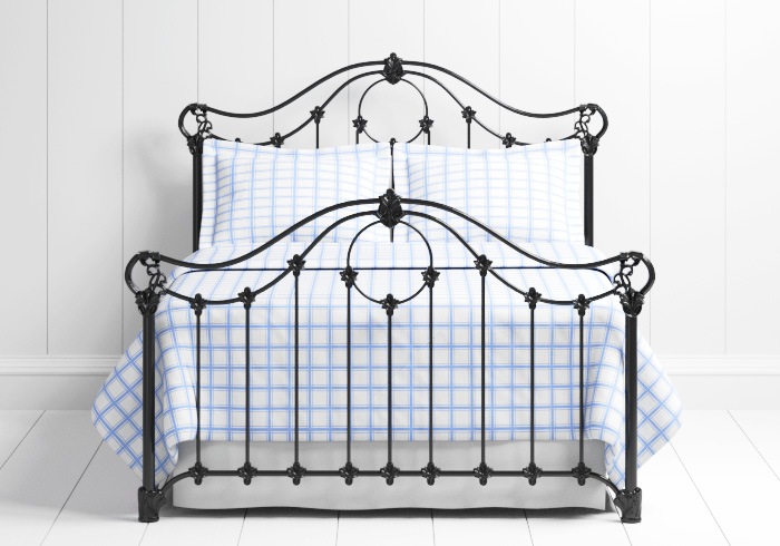 Alva iron bed in black