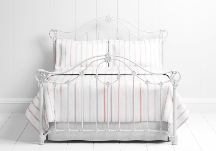 Alva iron bed in white