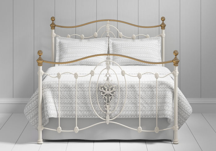 Ardmore iron bed in ivory