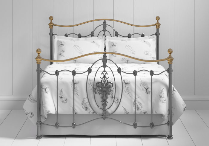 Ardmore iron bed in pewter