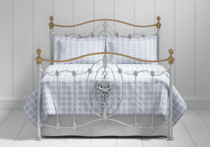 Ardmore iron bed in silver