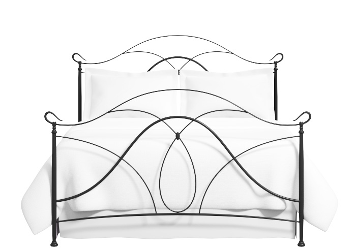 Ardo iron bed in satin black