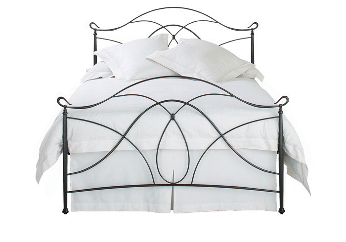 Cutout of Ardo iron bed in pewter