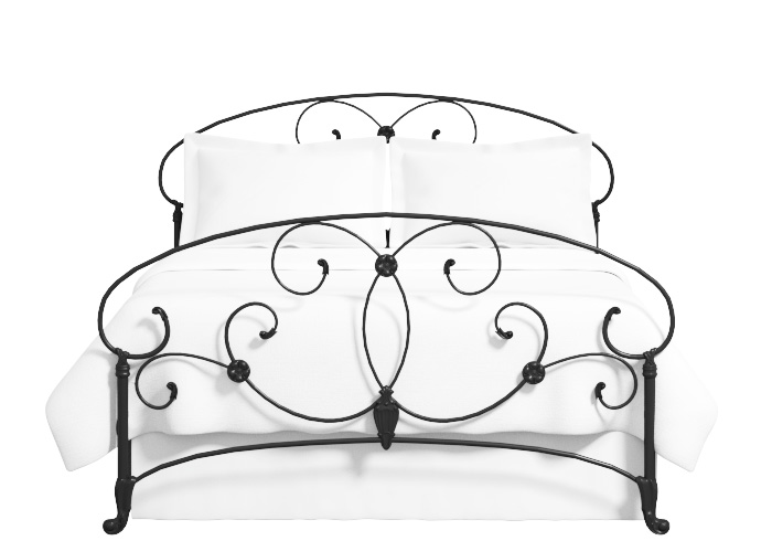 Arigna iron bed in satin black