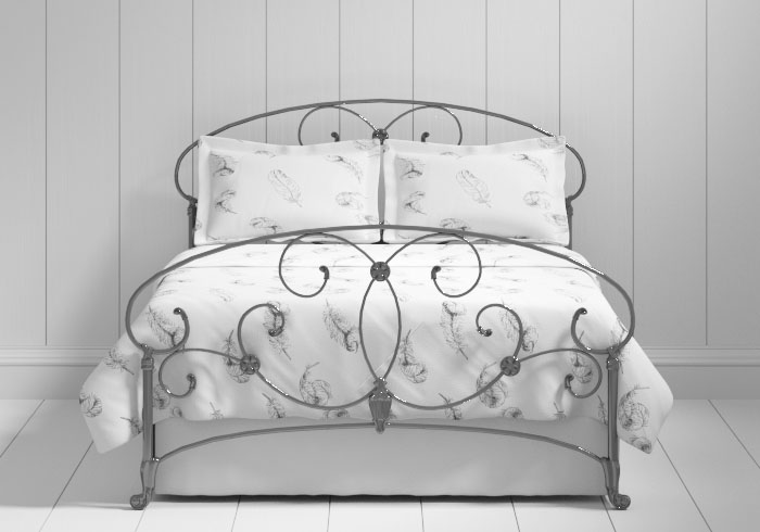 Arigna iron bed in pewter