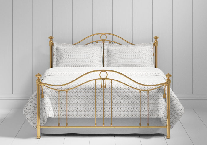 Armoy bed in a brass finish