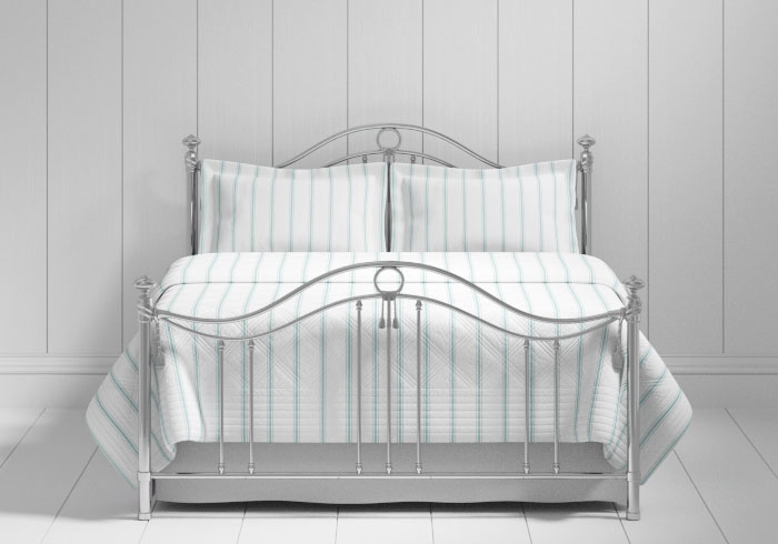 Armoy bed in a chrome finish