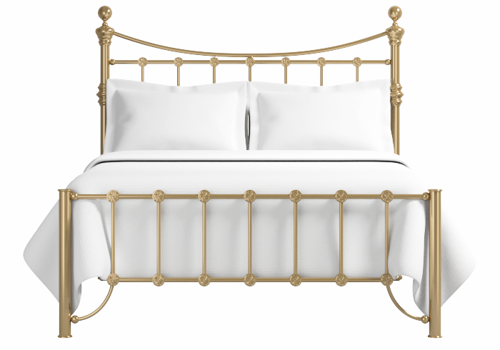 Arran low footend bed in a antique brass finish