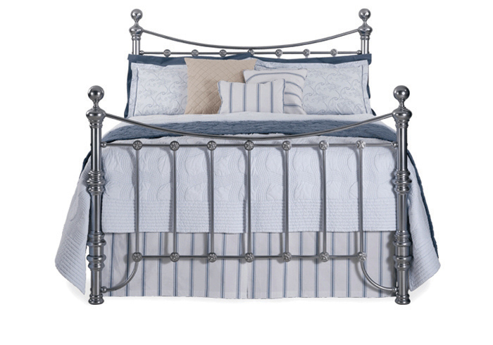 Arran bed in a chrome finish