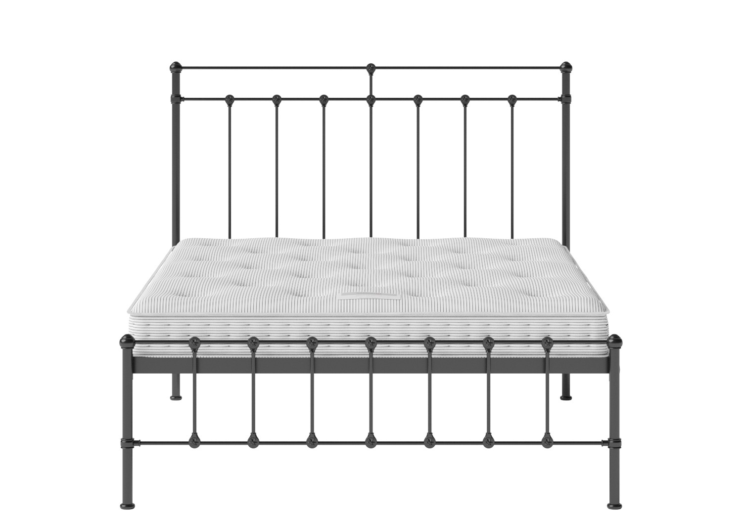 Iron Beds Part - 19: Ashley Iron/Metal Bed In Satin Black