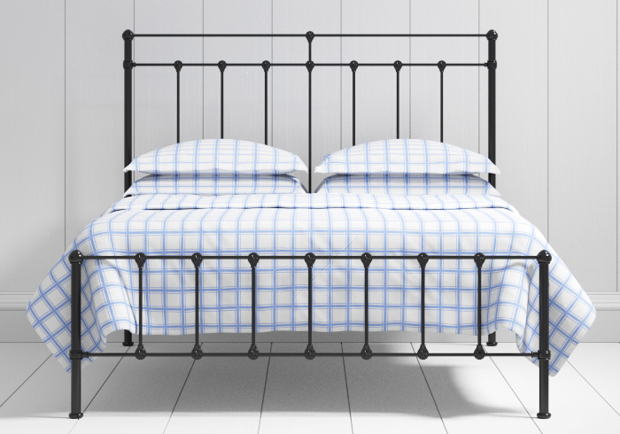 Ashley low footend iron bed in black