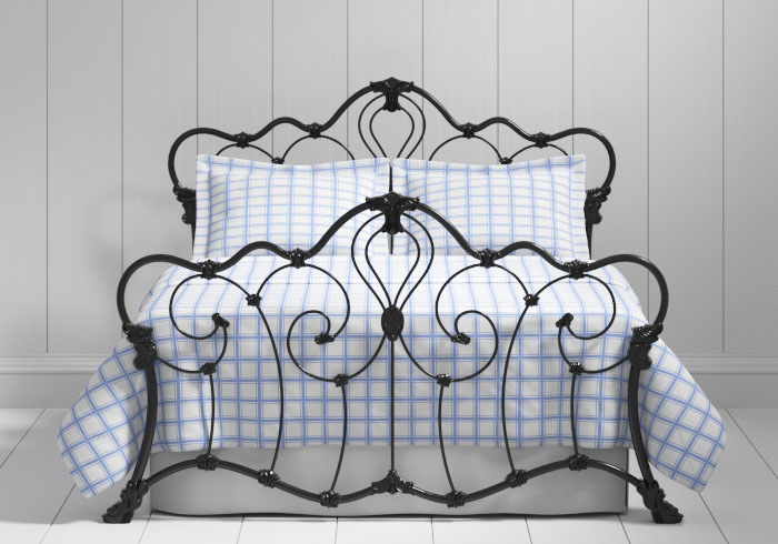 Athalone iron bed in black