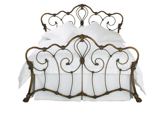 Cutout of Athalone iron bed in bronze patina