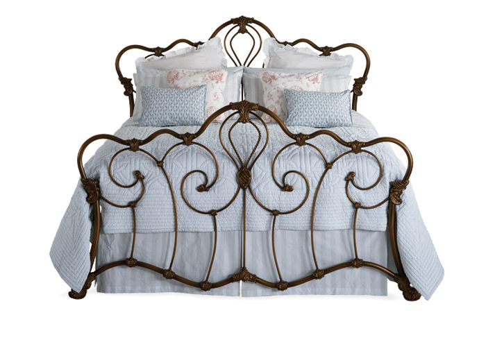 Athalone iron bed in bronze patina