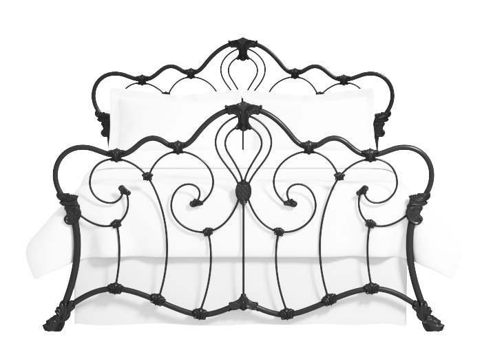 Athalone iron bed in satin black