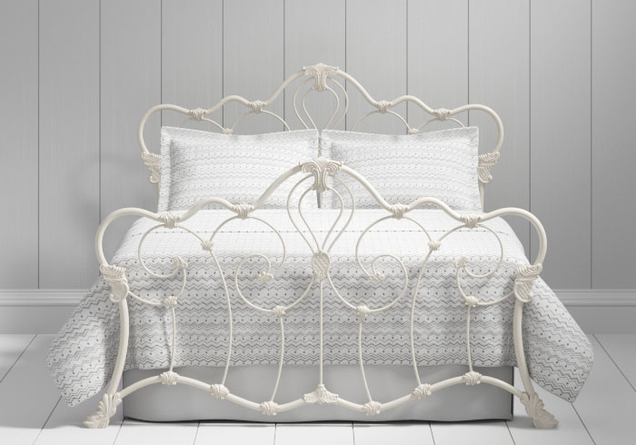 Athalone iron bed in ivory