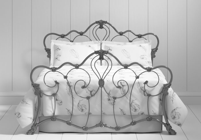 Athalone iron bed in pewter
