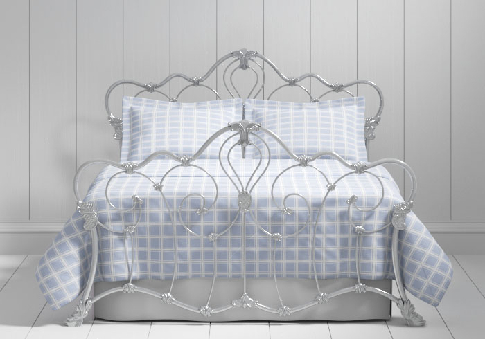 Athalone iron bed in silver