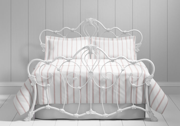Athalone iron bed in white