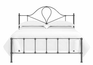 Athena low footend iron bed in satin black