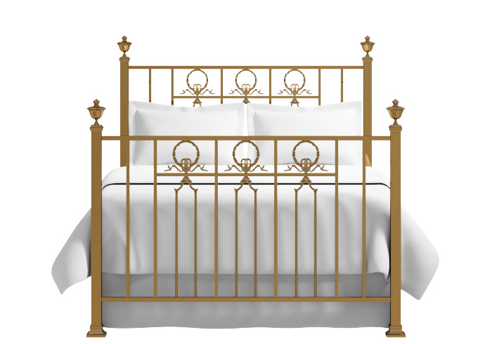 Ayr bed in a antique brass finish