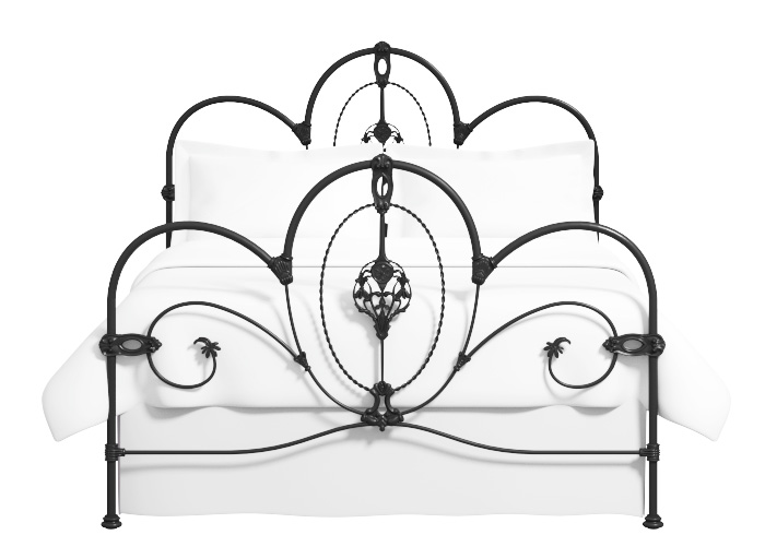 Ballina iron bed in satin black