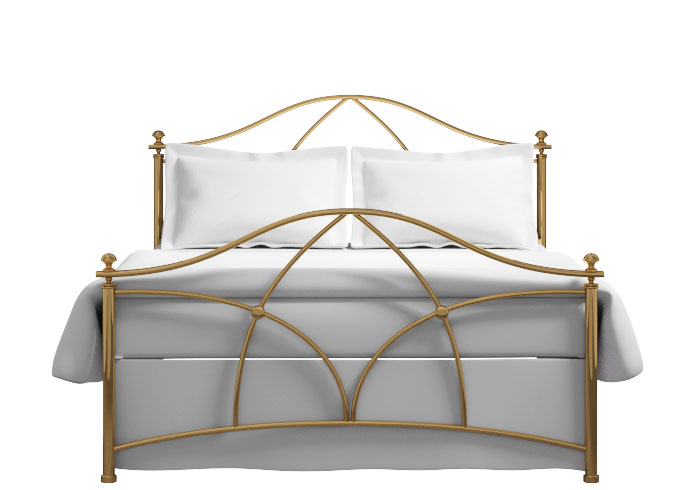 Bansha bed in a brass finish