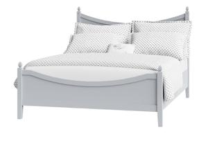 Cutout of Blake low footend painted wood bed in grey