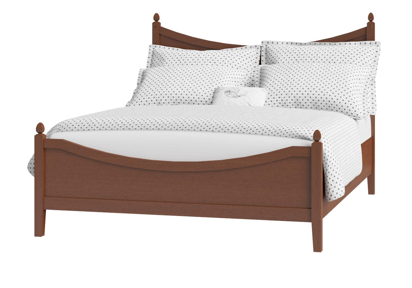 Cutout of Blake low footend wood bed in a dark cherry finish