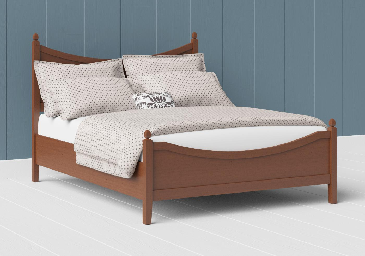 Blake low footend wood bed in a dark cherry finish