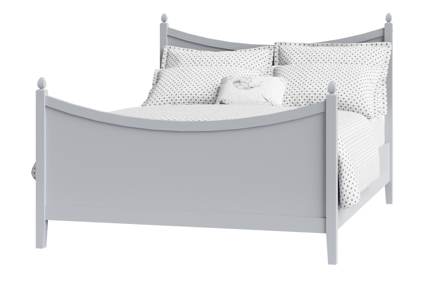 Cutout of Blake painted wood bed in grey