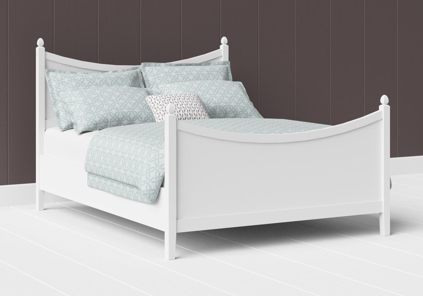 Blake painted wood bed in satin white