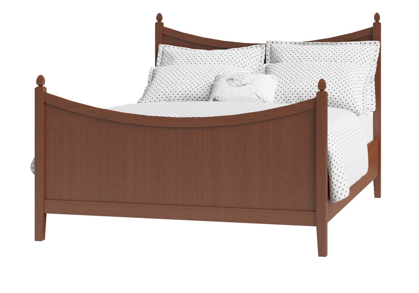 Cutout of Blake wood bed in a dark cherry finish