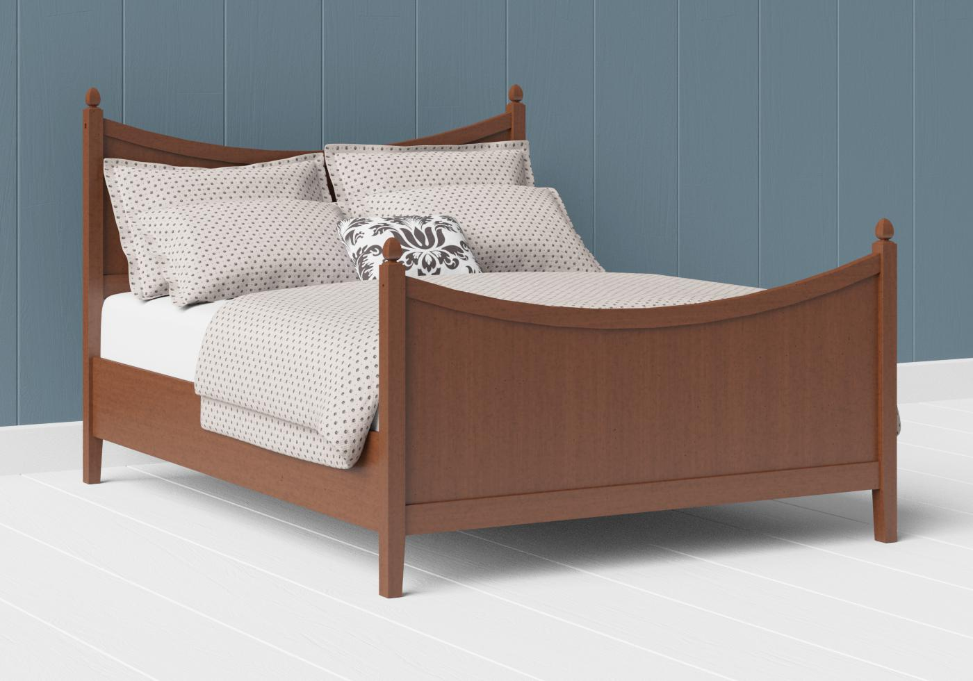 Blake wood bed in a dark cherry finish