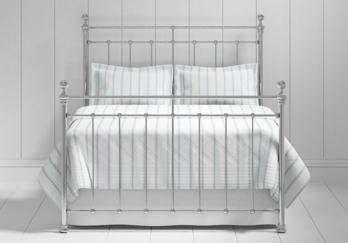 Blyth bed in a chrome finish