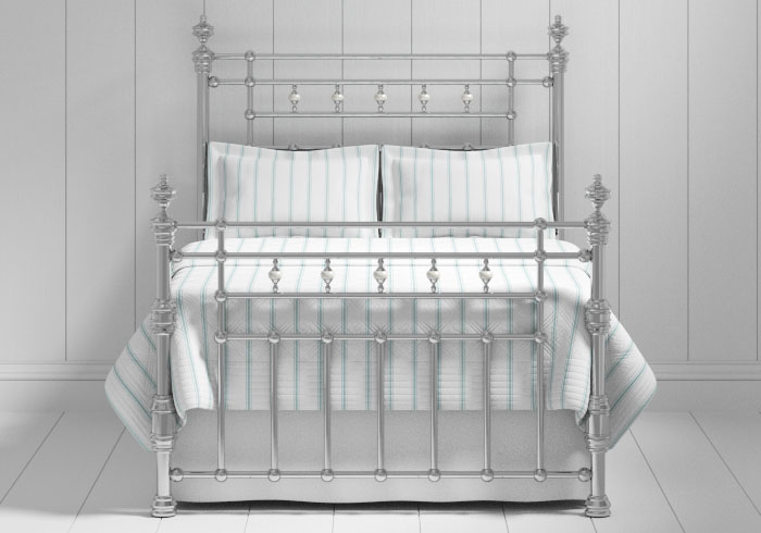 Boyne bed in a chrome finish
